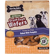 Three Dog Bakery Grain-Free Wafers Baked with Pumpkin Dog Treats, 13-oz box