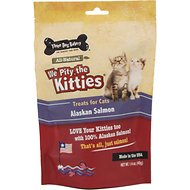 Three Dog Bakery We Pity the Kitties Alaskan Salmon Cat Treats, 1.4-oz bag