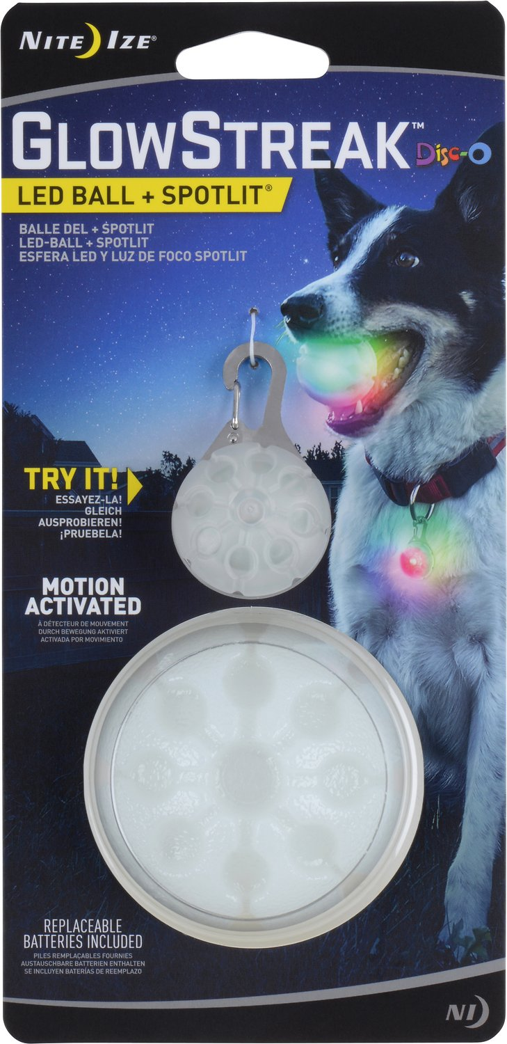 6-Pack Nite Ize PetLit LED Collar Clear Jewel Stylish Safety w//Carabiner Clip