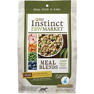 Instinct by Nature's Variety Raw Market Grain-Free Chicken Recipe Meal Blends Freeze-Dried Dog Food, 1-lb bag