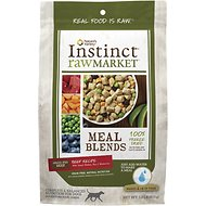 Instinct by Nature's Variety Raw Market Grain-Free Beef Recipe Meal Blends Freeze-Dried Dog Food, 1-lb bag