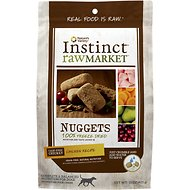 Instinct by Nature's Variety Raw Market Grain-Free Chicken Recipe Nuggets Freeze-Dried Dog Food, 15-oz bag