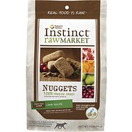 Instinct by Nature's Variety Raw Market Grain-Free Lamb Recipe Nuggets Freeze-Dried Dog Food, 14-oz bag