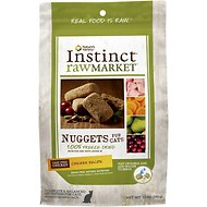 Nature's Variety Instinct Raw Market Chicken Recipe Nuggets Grain-Free Freeze-Dried Cat Food, 12-oz bag