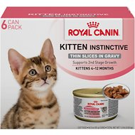Royal Canin Kitten Instinctive Thin Slices in Gravy Canned Cat Food, 3-oz, case of 6