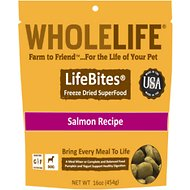 Whole Life LifeBites Salmon Recipe Grain-Free Freeze-Dried Dog Food, 16-oz bag