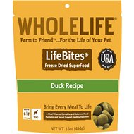 Whole Life LifeBites Duck Recipe Grain-Free Freeze-Dried Dog Food, 16-oz bag