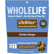 Whole Life LifeBites Chicken Recipe Grain-Free Freeze-Dried Cat Food, 16-oz bag