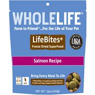 Whole Life LifeBites Salmon Recipe Grain-Free Freeze-Dried Cat Food, 16-oz bag