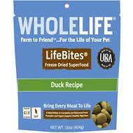 Whole Life LifeBites Duck Recipe Grain-Free Freeze-Dried Cat Food, 16-oz bag