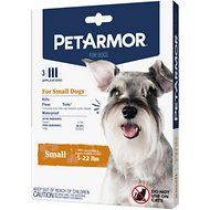 PetArmor Flea & Tick Squeeze-On Treatment for Dogs, 3 count, 5-22 lbs