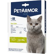 PetArmor Flea & Tick Squeeze-On Treatment for Cats & Kittens Over 1.5 lbs, 3-count
