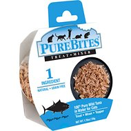 PureBites Whole Food 100% Wild Tuna in Water Cat Food Trays, 1.76-oz, case of 12