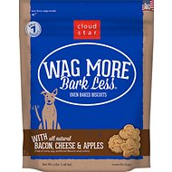 Cloud Star Wag More Bark Less Oven Baked with Bacon, Cheese & Apples Dog Treats, 3-lb box