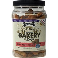 Three Dog Bakery Soft Meaty Bacon and Cheese Flavor Dog Treats, 25-oz jar