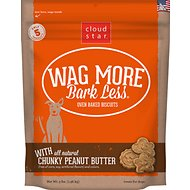 Cloud Star Wag More Bark Less Oven Baked with Crunchy Peanut Butter Cookie Recipe Dog Treats, 3-lb box