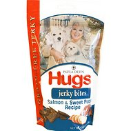 Paula Deen Hugs Jerky Bites Salmon & Sweet Potato Recipe Grain-Free Dog Treats, 12-oz bag