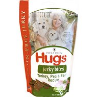 Paula Deen Hugs Jerky Bites Turkey, Pea & Berry Recipe Grain-Free Dog Treats, 12-oz bag