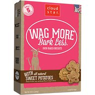 Cloud Star Wag More Bark Less Oven Baked with Sweet Potatoes Dog Treats, 16-oz box