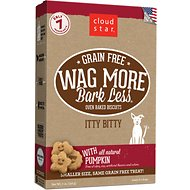 Cloud Star Wag More Bark Less Grain-Free Itty Bitty Oven Baked with Pumpkin Dog Treats, 7-oz bag