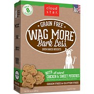 Cloud Star Wag More Bark Less Grain-Free Oven Baked with Chicken & Sweet Potatoes Dog Treats, 14-oz box