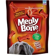 Meaty Bone Large Dog Treats, 7.5-lb bag