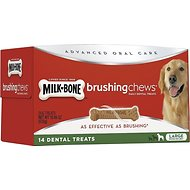Milk-Bone Original Brushing Chews Daily Dental Dog Treats, Large, 14 count