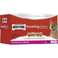 Milk-Bone Original Brushing Chews Daily Dental Dog Treats, Mini, 36 count