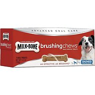 Milk-Bone Small/Medium Brushing Chews Daily Dental Dog Treats, 7 count