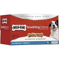 Milk-Bone Small/Medium Brushing Chews Daily Dental Dog Treats, 18 count