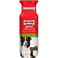 Milk-Bone Good Morning Total Wellness Daily Vitamin Dog Treats, 15-oz bottle