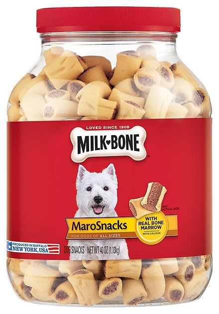 Milk-Bone Small MaroSnacks Dog Treats, 40-oz tub - Chewy.com