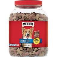 Milk-Bone Mini's Flavor Snacks Beef, Chicken & Bacon Flavored Dog Biscuits, 36-oz tub