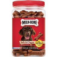 Milk-Bone Soft & Chewy Beef & Filet Mignon Recipe Dog Treats, 25-oz tub