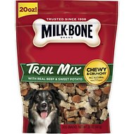 Milk-Bone Trail Mix with Real Beef & Sweet Potato Chewy & Crunchy Dog Treats, 20-oz bag