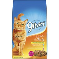 9 Lives Lean & Tasty Dry Cat Food, 3.15-lb bag