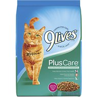 9 Lives Plus Care Dry Cat Food, 12-lb bag