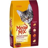 Meow Mix Hairball Control Dry Cat Food, 3.15-lb bag