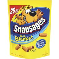 Snausages In a Blanket Beef & Cheese Flavor Dog Treats, 25-oz bag