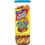 Snausages Snaw Somes! Beef & Cheese Flavor Dog Treats, 9.75-oz jar