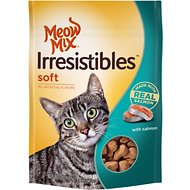 Meow Mix Irresistibles Soft Salmon Cat Treats, 3-oz bag