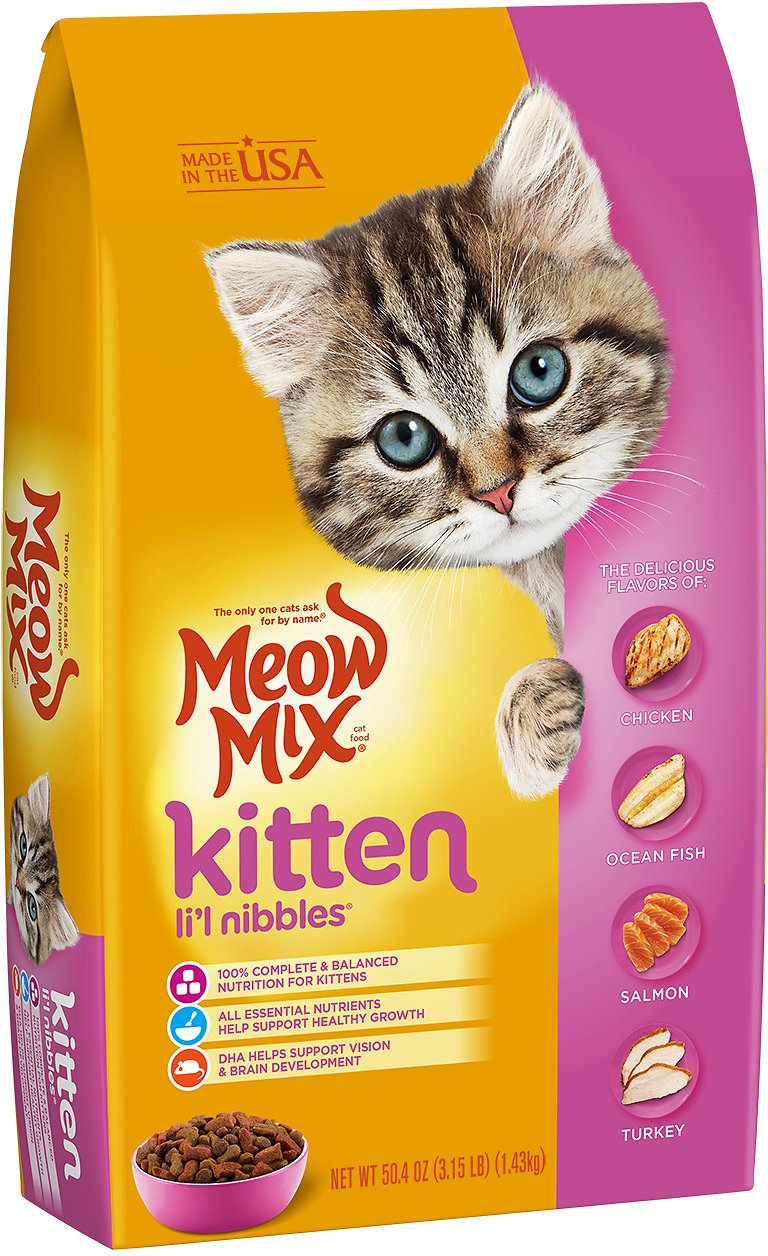 Meow Mix Kitten Lil Nibbles Dry Cat Food 315 Lb Bag Chewycom