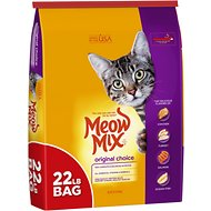 Cat food top brands low prices free shipping chewy meow mix original choice dry cat food 22 lb bag forumfinder Image collections
