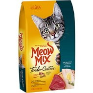 Meow Mix Tender Centers Tuna & Whitefish Dry Cat Food, 3-lb bag
