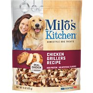 Milo's Kitchen Chicken Grillers Recipe with Natural Smoke Flavor Dog Treats, 15-oz bag