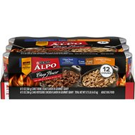 ALPO Chop House Rotisserie Chicken & T-Bone Steak Flavor in Gravy Canned Dog Food, 13.2-oz, case of 12