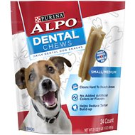 ALPO Small/ Medium Dental Chews Dog Treats, 24 count
