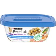 Purina Beneful Chopped Blends with Turkey, Sweet Potatoes, Brown Rice & Spinach Wet Dog Food, 10-oz container, case of 8
