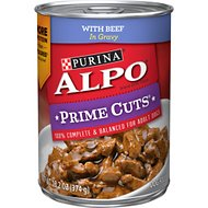 ALPO Prime Cuts with Beef in Gravy Canned Dog Food, 13.2-oz, case of 12