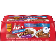 ALPO Homestyle Beef Lover's Pack Canned Dog Food, 13.2-oz, case of 12
